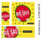 summer sale abstract banner... | Shutterstock .eps vector #670813678