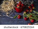 Strawberry On The Table