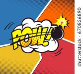 pow  comic background explosion | Shutterstock .eps vector #670826890