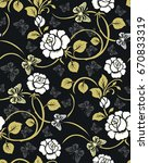 seamless luxury pattern with... | Shutterstock .eps vector #670833319
