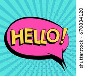 comic speech bubbles with text... | Shutterstock .eps vector #670834120