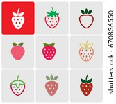 strawberries icons | Shutterstock .eps vector #670836550