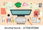 marketing. office. the... | Shutterstock .eps vector #670839088