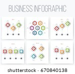 set with infographics. data and ... | Shutterstock .eps vector #670840138