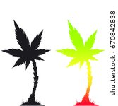 cannabis palm tree vector... | Shutterstock .eps vector #670842838