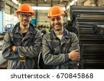 two professional engineers...   Shutterstock . vector #670845868
