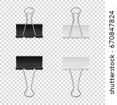 realistic vector binder clip... | Shutterstock .eps vector #670847824