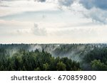 forest after rain. ecology.... | Shutterstock . vector #670859800