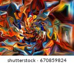 shards of paint series. graphic ... | Shutterstock . vector #670859824