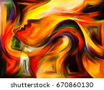 inner dialog series. abstract... | Shutterstock . vector #670860130