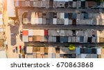 dilapidated old shack looking... | Shutterstock . vector #670863868