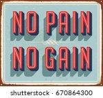 vintage vector metal sign   no... | Shutterstock .eps vector #670864300