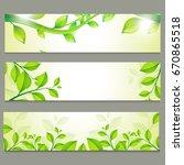 ecological website headers set... | Shutterstock .eps vector #670865518