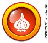 garlic icon | Shutterstock .eps vector #670867000