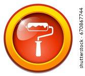 paint roller icon | Shutterstock .eps vector #670867744