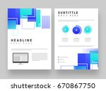 abstract corporate brochure ... | Shutterstock .eps vector #670867750