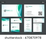 creative business card  name... | Shutterstock .eps vector #670870978