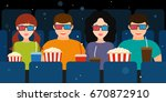 a company of two couples in the ...   Shutterstock .eps vector #670872910