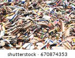waste of printing production  ... | Shutterstock . vector #670874353