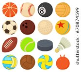 sport balls icons set play... | Shutterstock . vector #670874599