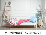 beautiful children's bed in... | Shutterstock . vector #670876273
