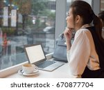 side view of young business... | Shutterstock . vector #670877704