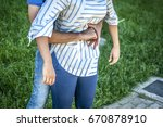 step for the heimlich maneuver... | Shutterstock . vector #670878910