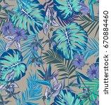 vector seamless vivid tropical