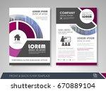 annual report brochure  flyer... | Shutterstock .eps vector #670889104