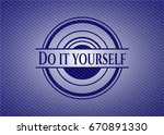 do it yourself jean background | Shutterstock .eps vector #670891330