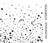 random black dots. bottom... | Shutterstock .eps vector #670892950