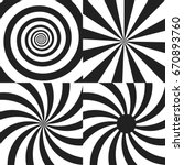 set of psychedelic spiral with... | Shutterstock .eps vector #670893760