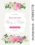 wedding invitation cards with... | Shutterstock .eps vector #670893778
