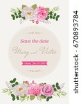 wedding invitation cards with... | Shutterstock .eps vector #670893784
