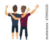 male friendship   two boys  men ... | Shutterstock .eps vector #670902220