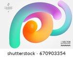 abstract digital hologram style ... | Shutterstock .eps vector #670903354