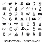 set of medical icons   Shutterstock .eps vector #670904620