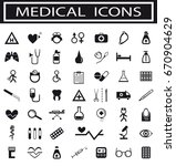 collection of medical icons | Shutterstock .eps vector #670904629