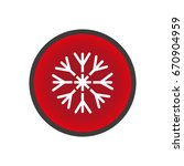 snowflake icon | Shutterstock .eps vector #670904959