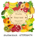 vector image of ripe fruits for ... | Shutterstock .eps vector #670906474