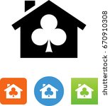clubhouse icon | Shutterstock .eps vector #670910308