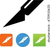 hobby knife icon | Shutterstock .eps vector #670910620