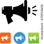 bullhorn blasting sound icon | Shutterstock .eps vector #670910650