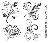 set of floral design elements.... | Shutterstock .eps vector #67091365
