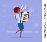 african american business woman ... | Shutterstock .eps vector #670927660
