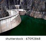 barrage vidraru in romania. | Shutterstock . vector #67092868