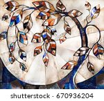 oil painting on canvas ... | Shutterstock . vector #670936204