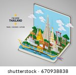 thailand travel concept the... | Shutterstock .eps vector #670938838
