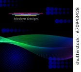 multicolored wavy texture.... | Shutterstock .eps vector #670943428