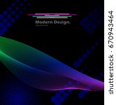 digital swirl. abstract... | Shutterstock .eps vector #670943464